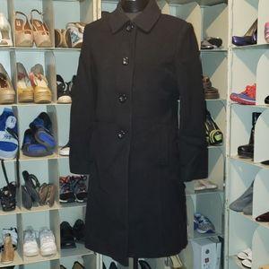 Worthington black wool peacoat size M petite